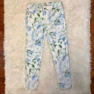 Abercrombie & Fitch Floral Skinny Jeans 6/28